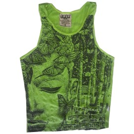 Butterfly Buddha man tank top shirt Sure Brand  M size- Various Color!