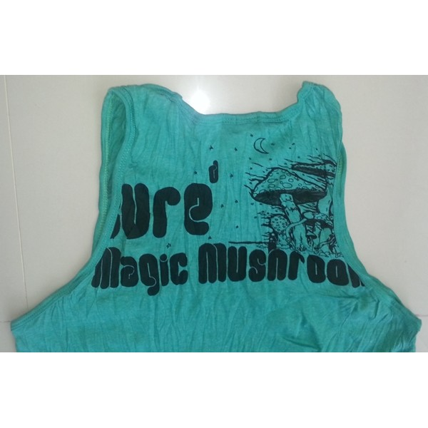 Magic Mushroom Psy Yoga motif man tank top shirt Sure Brand  M size- Various Color!