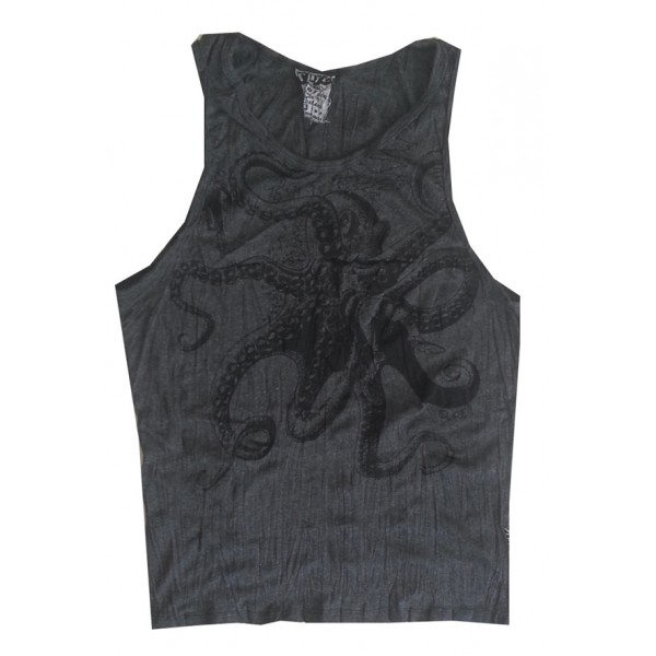 Octopus Sea Nature motif man tank top shirt Sure Brand  M size- Various Color!
