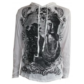 Buddha in Mirror motif Man Hoodie Sure Brand Various size and color!