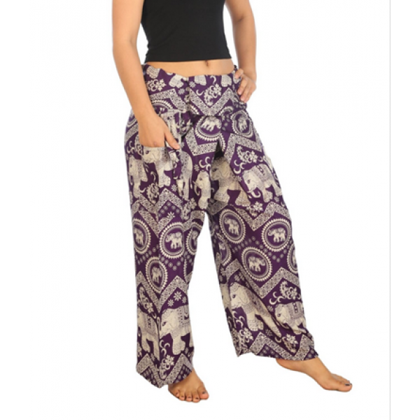 N5 New Boho sea blue mable pants fisherman yoga gypsy men women aladin alibaba thai farmer summer travel pattaya