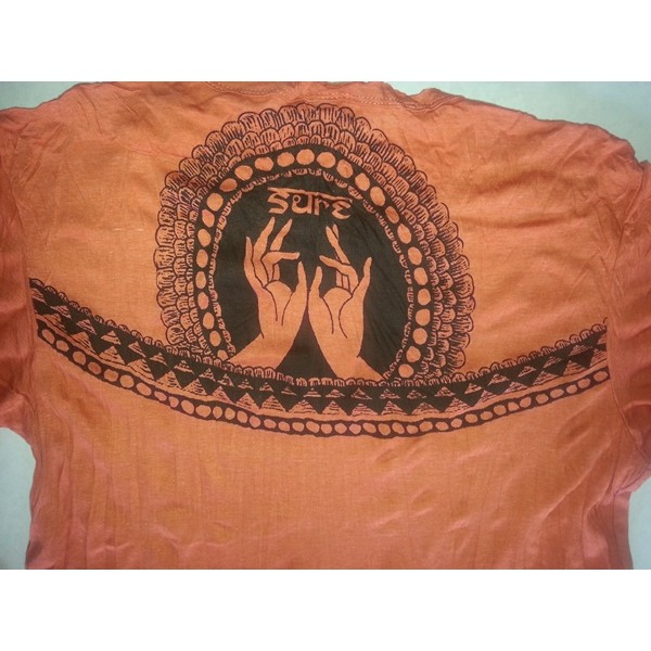 Lotus Buddha yoga  Hands Men t shirt Sure Brand  M size- Various Color!