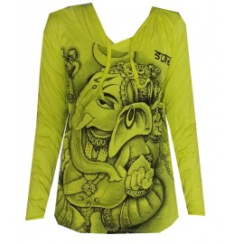 Ganesh Head Profile motif Hoodie FREE SIZE (S-M) Various Color Sure!