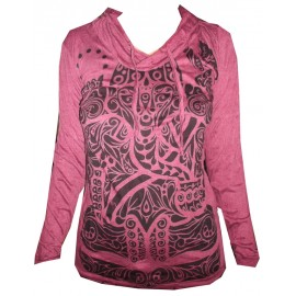 Buddha Tattoo Tribal motif Hoodie FREE SIZE (S-M) Various Color Sure!