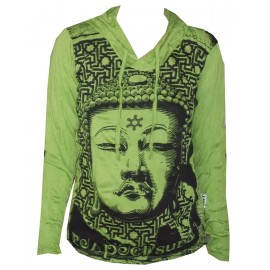 Buddha Star Yoga motif Hoodie FREE SIZE (S-M) Various Color Sure!