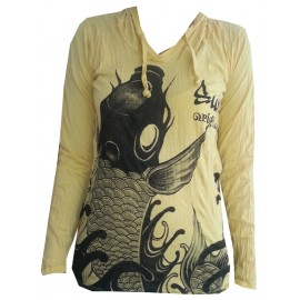 Koi Carp Fish motif Hoodie FREE SIZE (S-M) Various Color Sure!