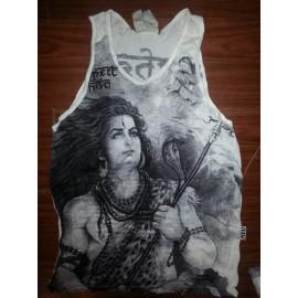 Shiva yoga motif man tank top shirt Sure M size various color!
