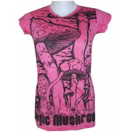 Mushroom SURE T shirt FREE SIZE thin cotton - Wholesale prices!