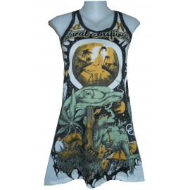 Natural Inspiration WEED tunic sleeveless magic Mushroom FREE SIZE love psy
