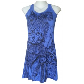 Sure Cat animal motif sleeveless Egypt Tunic FREE SIZE various color!