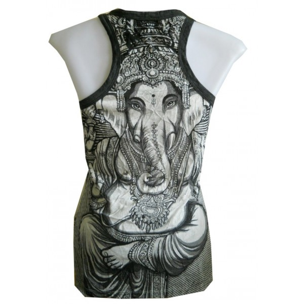 Ganesh/Ganesha motif tank top free size WEED brand various color! - Wholesale
