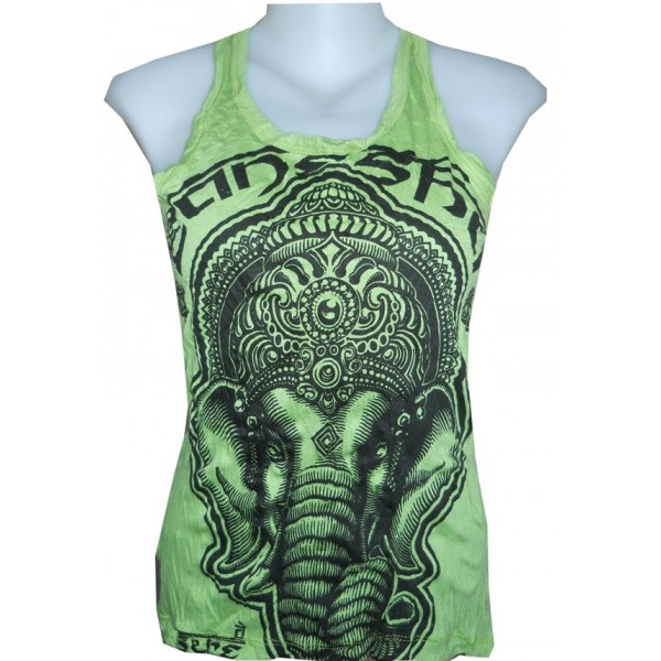Amazing Ganesh head no sleeves shirt from Sure buy online now! FREE SIZE