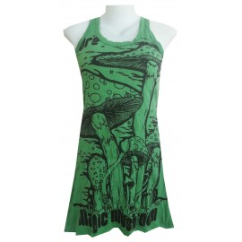 Sure brand magic Mushroom love psy Tunic sleeveless very attractive with quality print!