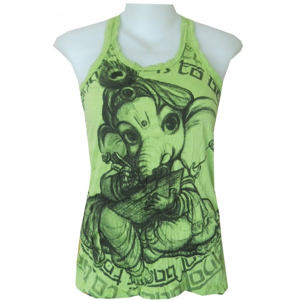 Ganesh baby motif tank top free size Sure various color - Wholesale!