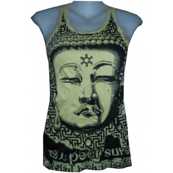 Buddha star motif tank top various color free size Sure brand