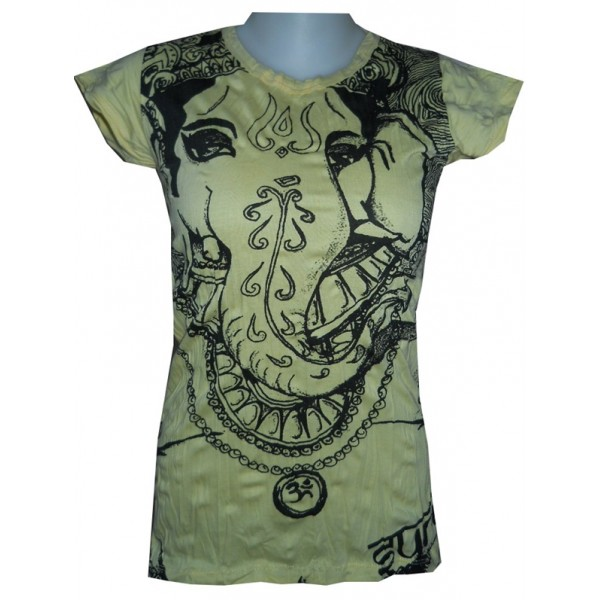 Ganesh/Ganesha motif t shirt free size Sure various color!