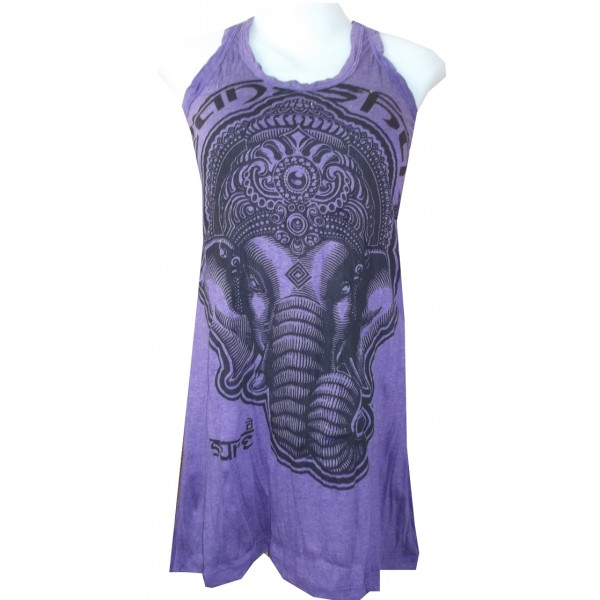 Ganesh Head mini dress sleeveless amazing style and quality for affordable price online! FREE SIZE