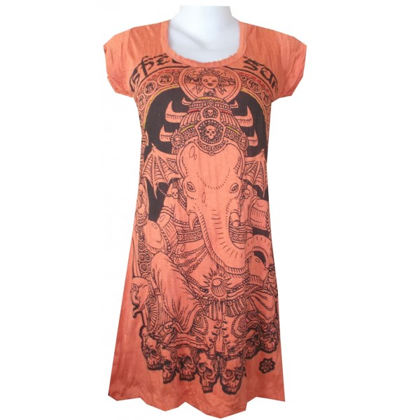 Ganesh skull motif woman long dress free size!