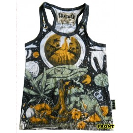 Mushroom eye Weed brand  top tank shirts fit size S-M!