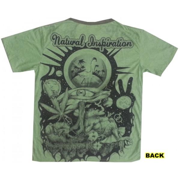 Inspiration magic Mushroom yoga psy attractive Weed brand T shirt ...