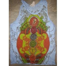 Meditation Chakras Yoga motif Tank Top Sure brand 100% cotton! Size M