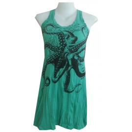 Octopus sea nature  motif Sure brand woman mini dress tunic various color! FREE SIZE