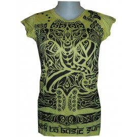 Tattoo Buddha motif t shirt free size various colors Sure Design
