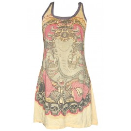 Ganesha skull motif WEED brand woman mini dress tunic various color! FREE SIZE